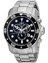 Invicta 15081 Reloj para Hombre, Redondo, Análogo, color Negro y Plata