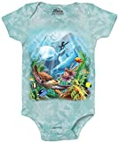 The Mountain Sea Villians-Onesie Infant Baby Onesie, Teal, 6 Month Old Baby