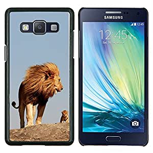 BearCase / Cubierta de protección Caso duro de la contraportada de Shell Plástico /// Samsung Galaxy A5 ( A5000 ) /// madre naturaleza lindo mama león