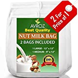"My Best Nut Milk Bag - 2 Pack Large (12""x12"") & Medium (12""x9"") Strong Reusable Almond Milk Bags - Commercial Food Grade Fine Nylon Mesh - Food Strainer & Cheese Maker Coffee & Tea Filter"