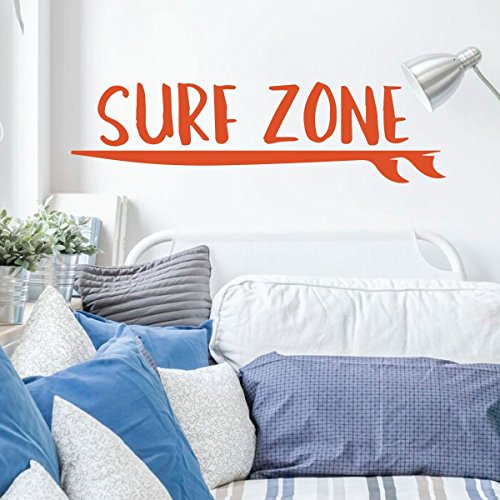 Surfing Wall Decor- Surf Zone Board - Vinyl Decals for Home Decor, Bedroom, Playroom Or Beach House - Surfer Gift