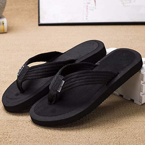 Les Leisure Chaussures Étudiants Orteils Tongs Kmjbs four Pieds Dans La Plage Bain De Noir flip Forty Salle xOf77wX