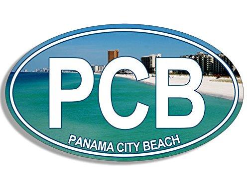 American Vinyl Oval PCB Panama City Beach Sticker (Florida fl Resort Gulf)