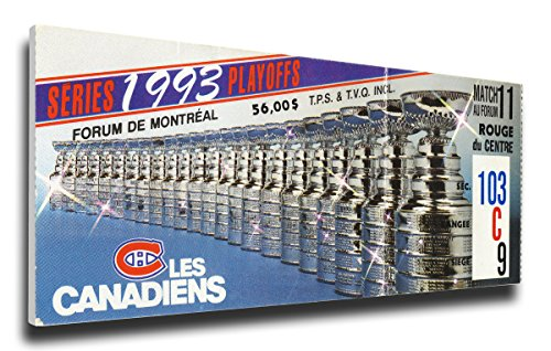 That's My Ticket 1993 NHL Stanley Cup Mega Ticket Wall Decor, Montreal Canadiens