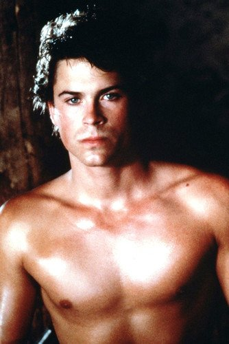 Rob Lowe Hunky Barechested Beefcake Pin Up 24X36 Poster from Silverscreen