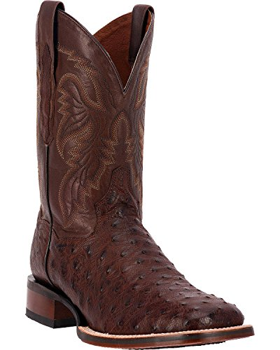 Quill Square (Dan Post Men's Alamosa Full Quill Ostrich Western Boot Square Toe Chocolate 13 D(M) US)