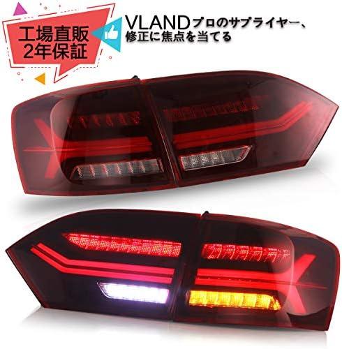 VLANDフォルクスワーゲンVW ジェッタMK6/サギター用 アウディタイプ テールライト テールランプリアライト 左右セット 4灯 2012-以降 流れるウインカー 全 LED