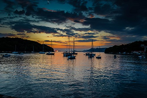 Sailboats And Sunset by