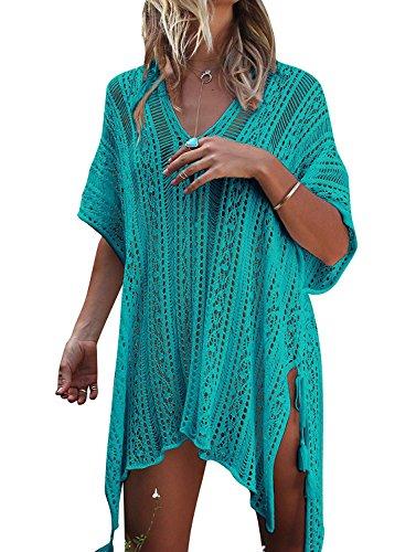 VenuStar Womens Summer Breeze Crochet Knit Bikini Swimsuit Pullover Cover-up Wrap