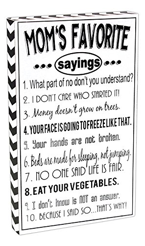 Favorite Sayings Black White Plaque product image