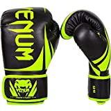 Venum Challenger 2.0 Boxing Gloves, 10 oz, Black/Neo Yellow