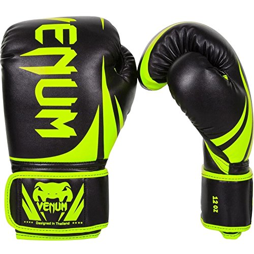 Venum Challenger 2.0 Boxing Gloves - Black/Neo Yellow - (Halloween Boxing Gloves)