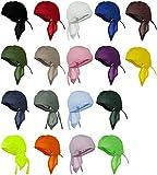 Doo Rag 12 Pack of Head Wraps Motorcycle Hats Bandana Skull Caps