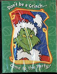 How the Grinch Stole Christmas Party Invitations - 8 Pack