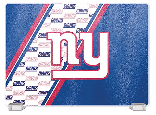 NFL New York Giants Tempered Glass Cutting Board with Display (New York Giants Nfl Glass)