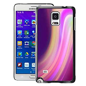 Supergiant (Swirl Motion Purple Lights Blur Colorful) Impreso colorido protector duro espalda Funda piel de Shell para Samsung Galaxy Note 4