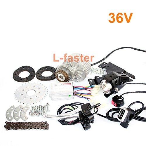 L-高速最新450ワットe-バイクモーターキット電動倍速自転車変換キット電動エンジンキット用マルチスピード自転車 [並行輸入品] B076BWV2L4 36V Thumb Kit 36V Thumb Kit