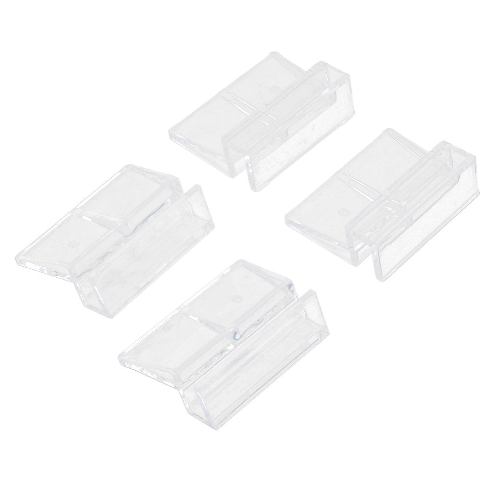 4Pcs Aquarium Fish Tank Plastic Clips Glass Cover Strong Support Holders 8mm Generic