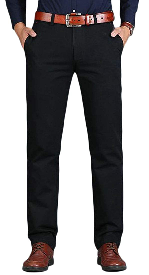 Hajotrawa Mens Open Bottom Cotton Breathable Casual Baggy Pants Trousers