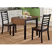 Liberty Furniture Cafe 3 Piece Drop Leaf Dining Set in Black