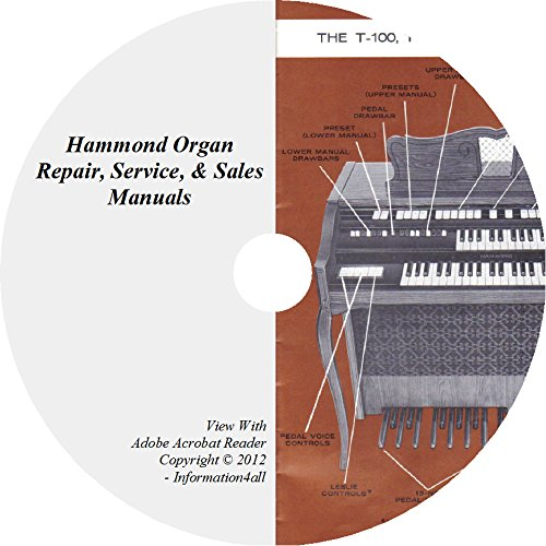 Hammond Organ, Repair, Restoration, Guides, Service, Manuals, Ultimate Library – 22 Books on DVD - Organ Service Repair Manual