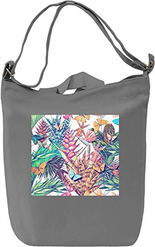 Butterfly Pattern Borsa Giornaliera Canvas Canvas Day Bag| 100% Premium Cotton Canvas| DTG Printing|