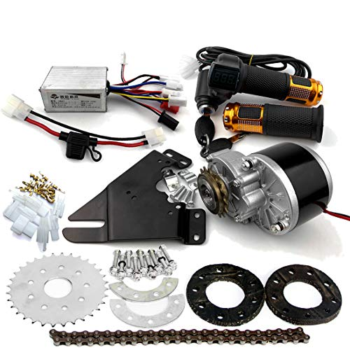 L-faster 24V36V250W Electric Conversion Kit for Common Bike Left Chain Drive Customized for Electric Geared Bicycle…
