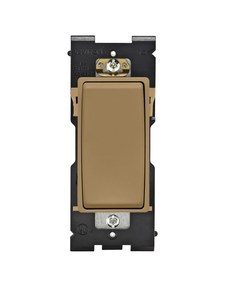 Leviton RE151-WC Renu Switch for Single Pole Applications, 15A-120/277VAC, Warm Caramel