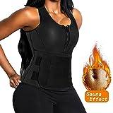 FLORATA Women Waist Trainer Neoprene Hot Sweat Sauna Vest With Waist Trimmer Belt For Weight Loss
