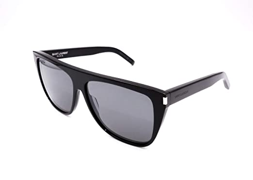 104c2faf4f2 Image Unavailable. Image not available for. Color  Authentic YVES SAINT  LAURENT Black Sunglasses SL 1-002NEW