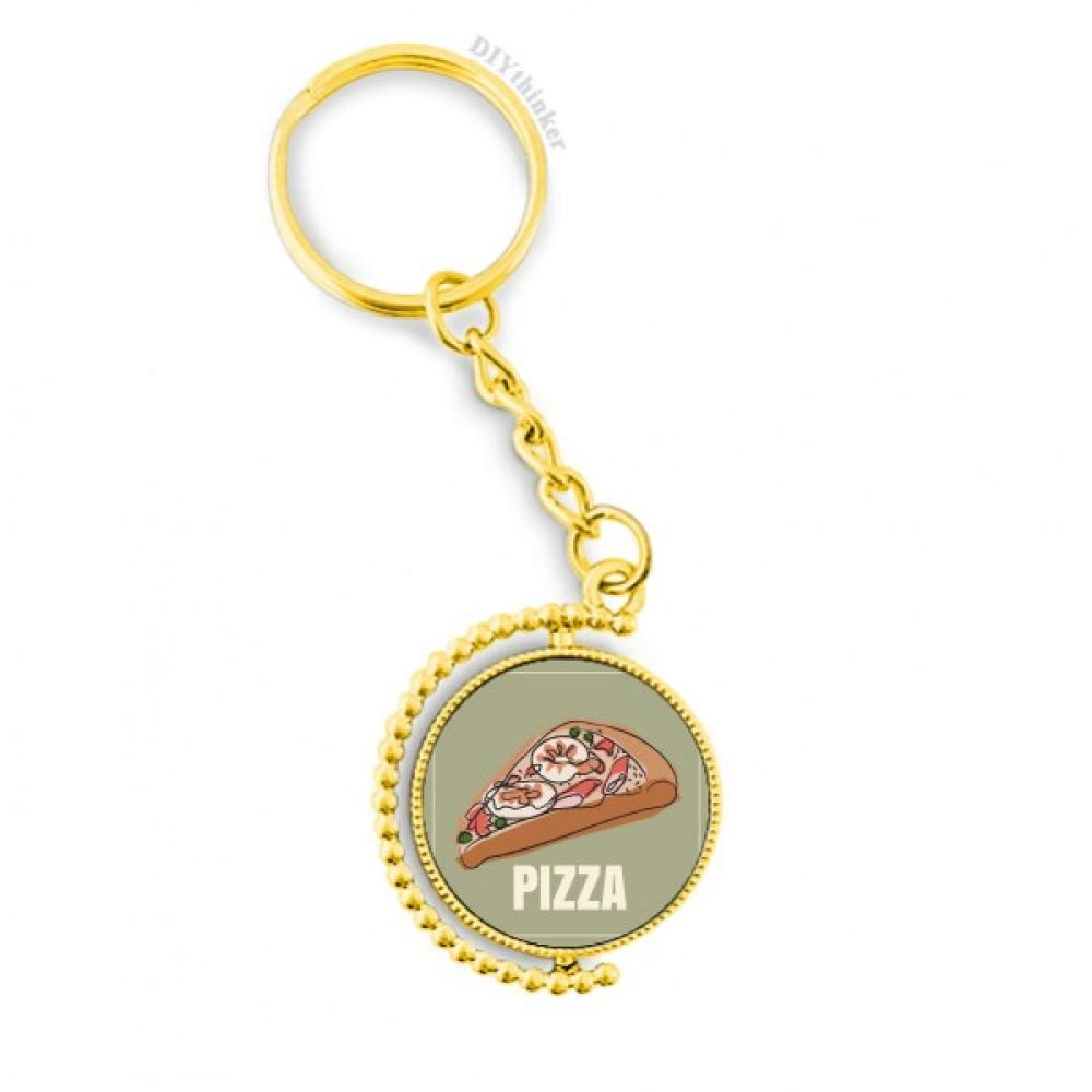 Amazon.com: Slice Of Pizza Italia - Llavero de metal, diseño ...