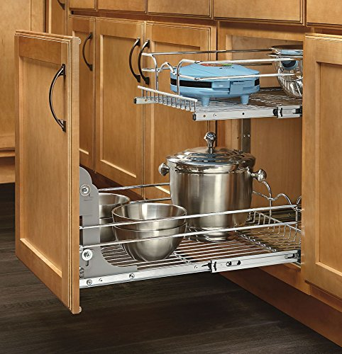 Rev-A-Shelf - 5WB2-2122-CR - 21 in. W x 22 in. D Base Cabinet Pull-Out Chrome 2-Tier Wire Basket by Rev-A-Shelf (Image #2)