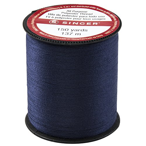 Singer All Purpose Polyester Thread 150 yards-Navy (Thread Polyester Kit)