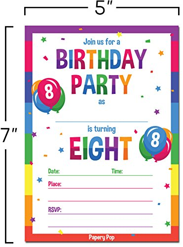 Product Description These High Quality Birthday Party Invitations
