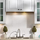 White Kitchen Backsplash Fasade Easy Installation Traditional 1 Gloss White Backsplash Panel for Kitchen and Bathrooms (18