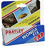 Pratley Wondafix Car - Epoxy Glue Leather Repair - Black Bonding Adhesive For Car Dashboard, Bumper, Trim - Flexible All Purpose Repair Kit For Most Metal, Rubber, Leather, Upholstery and Plastic