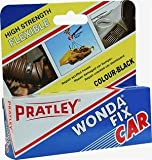 rubber hose sealant - Pratley Wondafix Car - Epoxy Glue - Leather Repair - Black Bonding Adhesive For Car Dashboard, Bumper, Trim - Flexible All Purpose Repair Kit For Most Metal, Rubber, Leather, Upholstery and Plastic