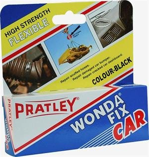 Epoxy Glue - 2 Part Leather Repair - Black Bonding Adhesive For Car Dashboard, Bumper and Trim - Flexible All Purpose Repair Kit For Most Metal, Rubber, Upholstery and Plastic by Pratley - Black Plastic Dash