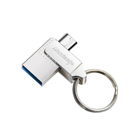 Maxchange Memoria USB 3.0 para Android OTG(OnTheGo) Flash Drive Pendrive 64GB para Android Smart Phone y PC Ordenador con Micro USB Conector, Plateado ...