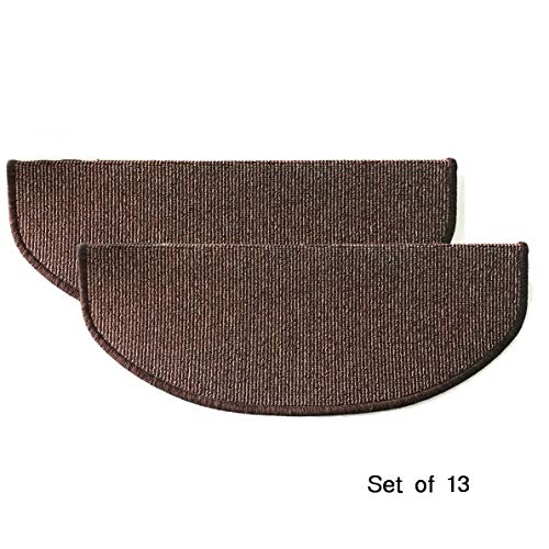 Comme Rug Non Slip Bullnose Carpet Stair Treads Stair Rugs Step Treads Stair Pads Stair Covers,Non Skid Self Adhesive with Stair Nosing for Wood Stair,9.5