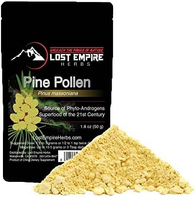 Wild Harvested Pine Pollen - Non-Irradiated! - Nootropic Herb Packed with Amino Acids, Vitamin C, and More - Great for Hair and Skin Care - Vegan/Paleo/Keto Friendly, Gluten Free (50 g)