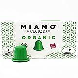 MIAMO COFFEE - ORGANIC USDA - Pack of 50 Nespresso Compatible Capsules - Fit to all Nespresso Original Line Machines - Intensity 4/10