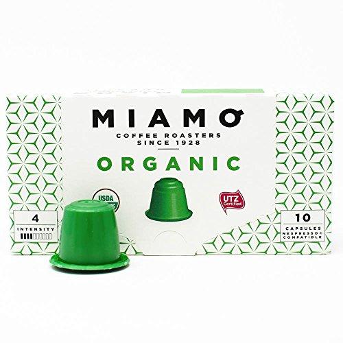 MIAMO COFFEE - ORGANIC USDA - Pack of 50 Nespresso Compatible Capsules - Fit to all Nespresso Original Line Machines - Intensity 4/10 by MIAMO COFFEE