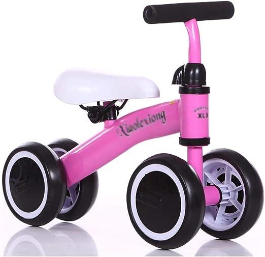 Bicicleta sin pedales YXX Bicicleta Balance Rosa 4 Ruedas, Vespa ...