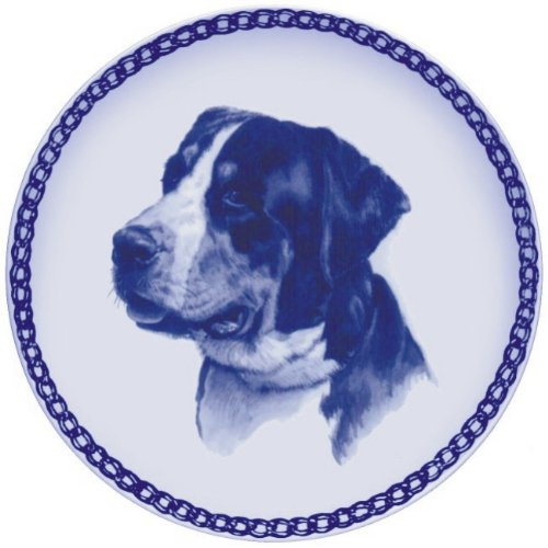 Greater Swiss Mountain Dog Lekven Design Dog Plate 19.5 cm  7.61 inches Made in Denmark NEW with certificate of origin PLATE  7547