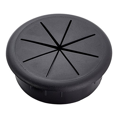 Cover Cable Desk (HomeDone Desk Grommet Flexible 2-3/8 Inch Black 5-Pack)