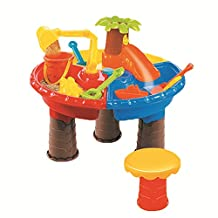 Sand Water Play Table , Kids Beach Play Set Toys Garden Sandpit Sandbox Desk Toys Toddler Aquatic Arena Sandbox Activity Play Set by TiTa-Dong