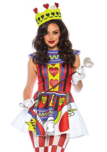 Leg Avenue Womens Card Queen of Hearts Halloween Costume, Multi Large