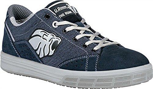 Zapato de seguridad en ISO 20345S1P Src Trophy Talla 45terciopelo piel azul