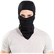Luckyandery Balaclava Windproof Ski Mask Cold Weather Face Mask Motorcycle Neck Warmer Outdoors Sports Moisture Wicking Black